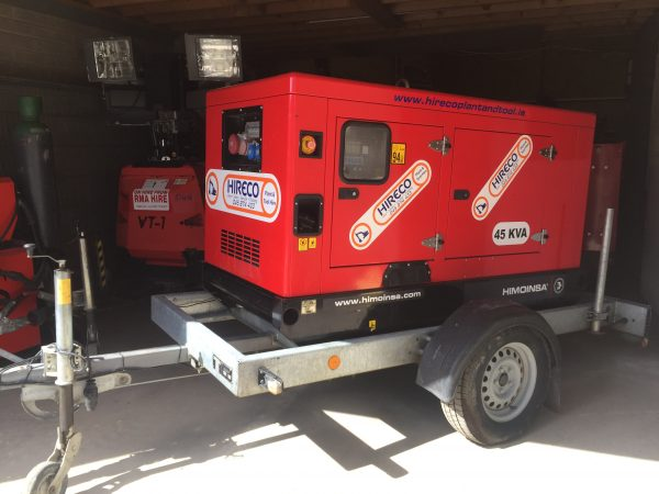 Tow Behind Generator for Hire or Sale - Hireco Plant and Tool - www.hirecopt.ie
